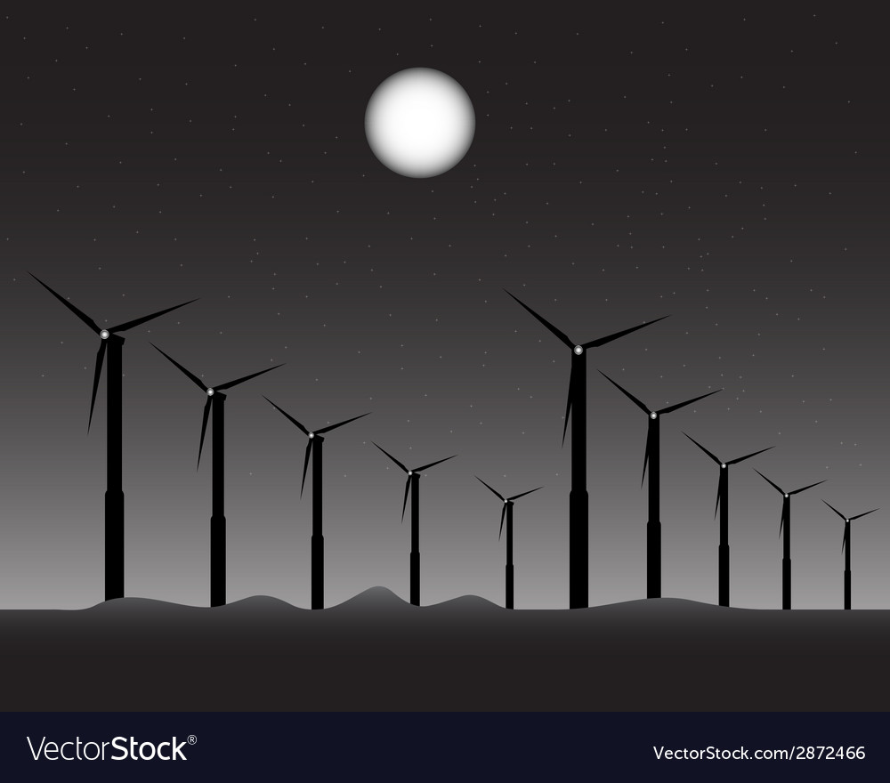 Windmills for energy vector | Price: 1 Credit (USD $1)