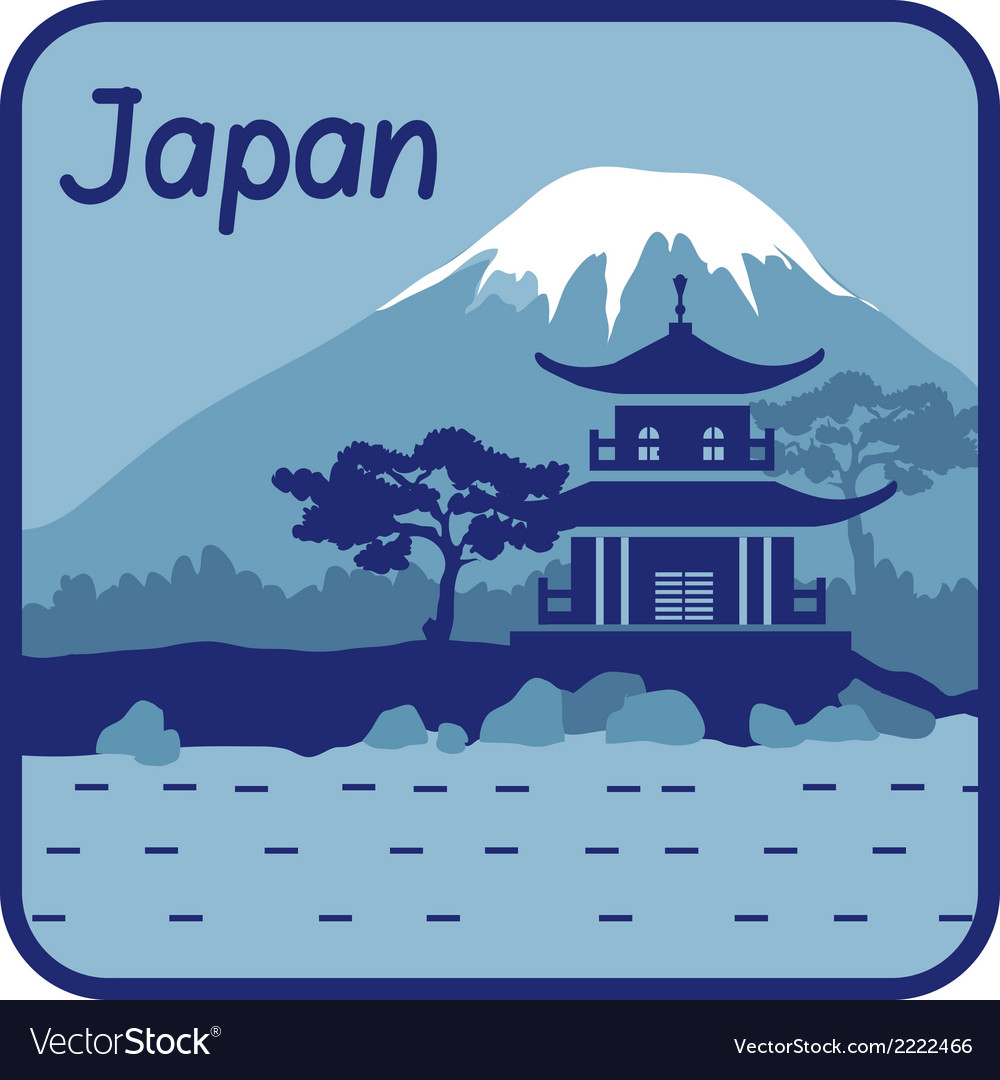 With pagoda and mount fuji in japan vector   Price: 1 Credit (USD $1)