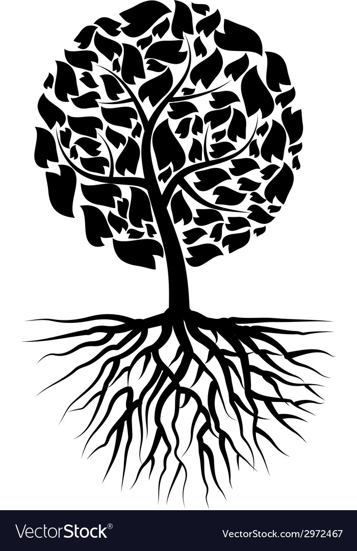 Black tree vector | Price: 1 Credit (USD $1)