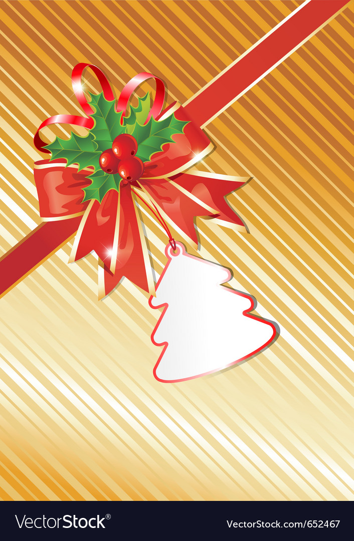 Christmas background with gift tag vector | Price: 1 Credit (USD $1)