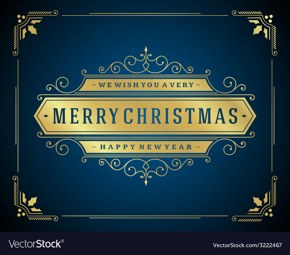 Christmas retro typography and ornament decoration vector   Price: 1 Credit (USD $1)