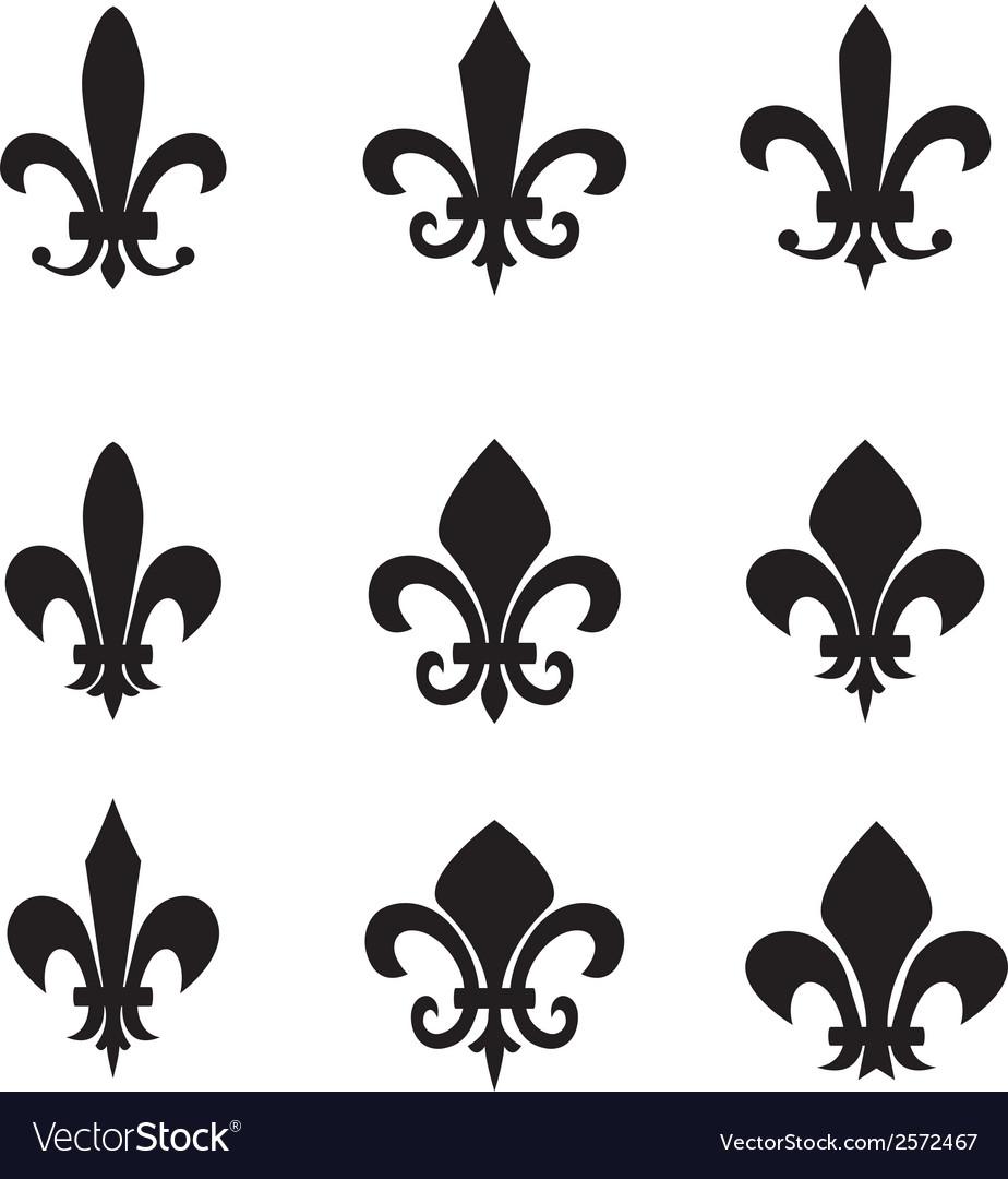 Collection of fleur de lis symbols vector | Price: 1 Credit (USD $1)