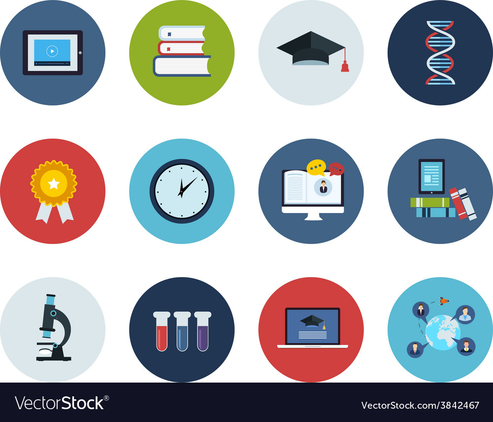 Education and science icons vector | Price: 1 Credit (USD $1)