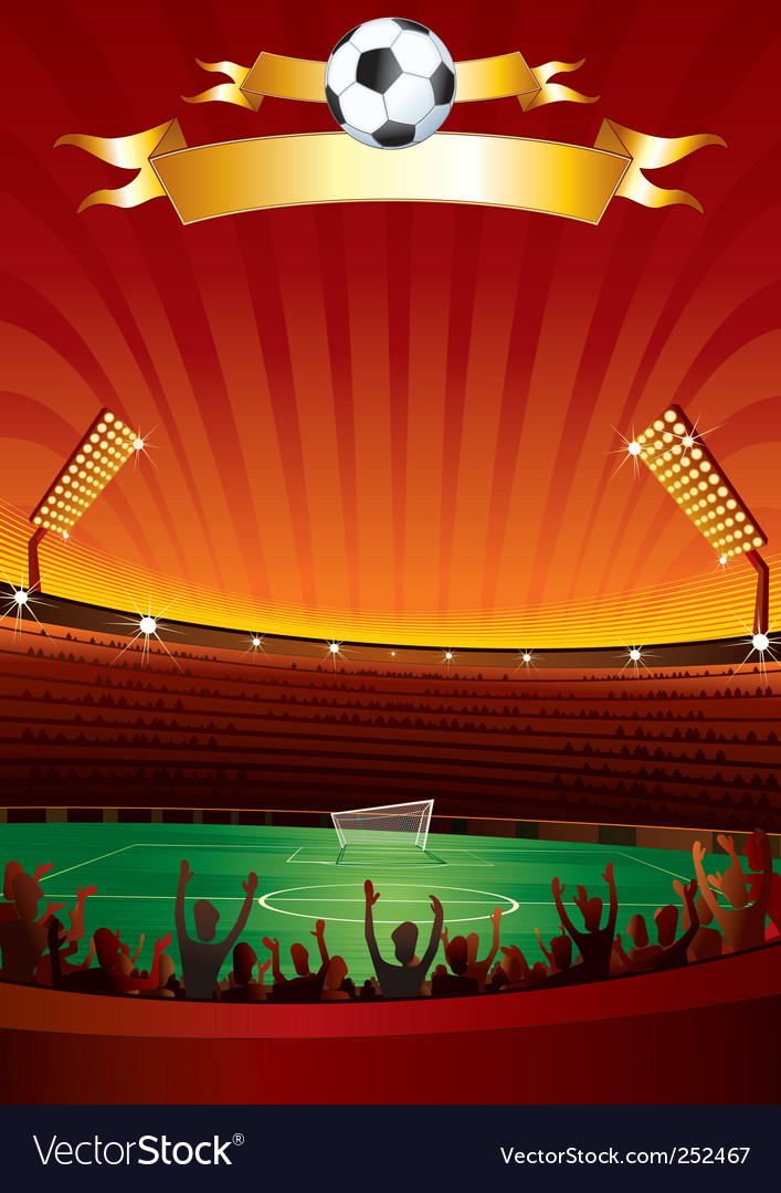 Football stadium vector | Price: 3 Credit (USD $3)