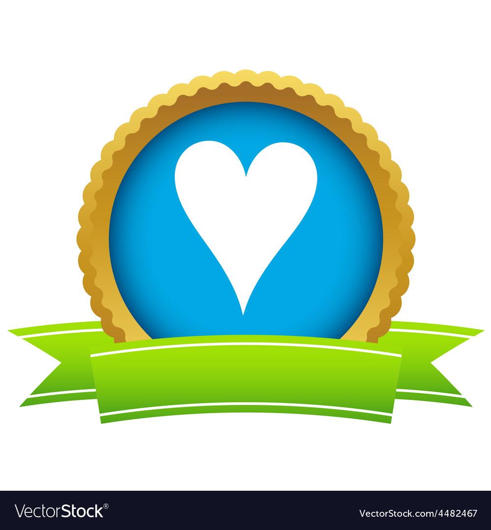 Gold heart card logo vector | Price: 1 Credit (USD $1)