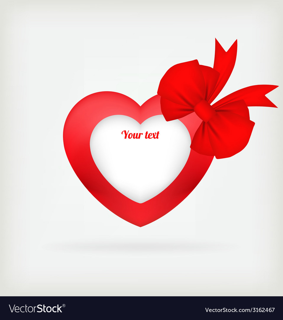 Heart a red tape vector | Price: 1 Credit (USD $1)