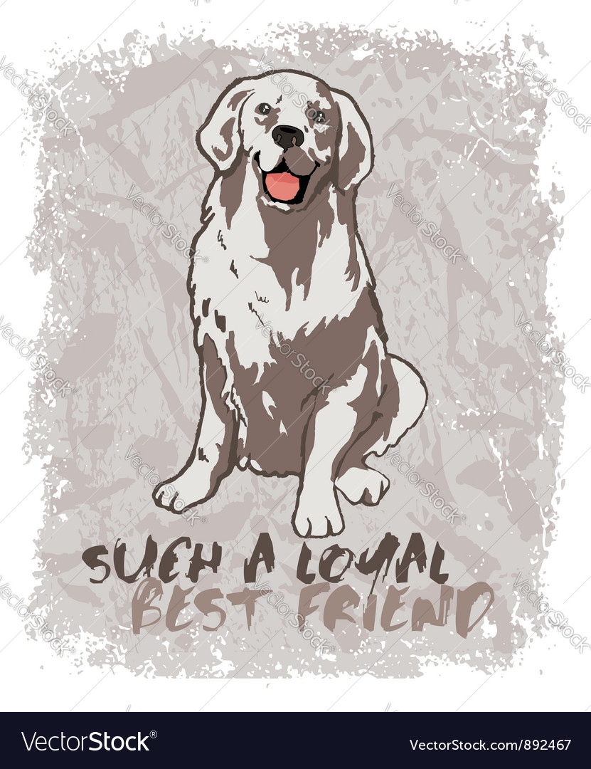 Loyal friend vector | Price: 1 Credit (USD $1)