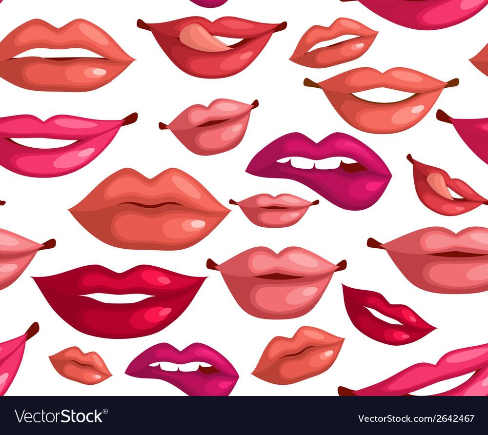 Seamless lips vector | Price: 1 Credit (USD $1)