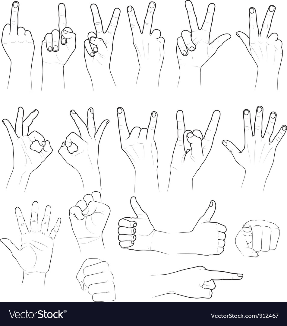 Sketch of hands vector | Price: 1 Credit (USD $1)