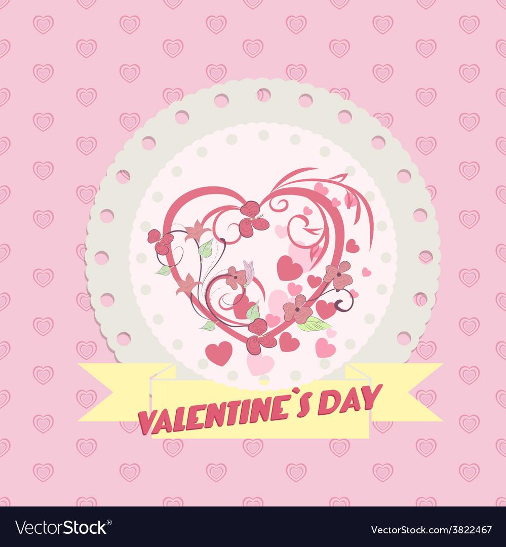 Valentine day background vector | Price: 1 Credit (USD $1)