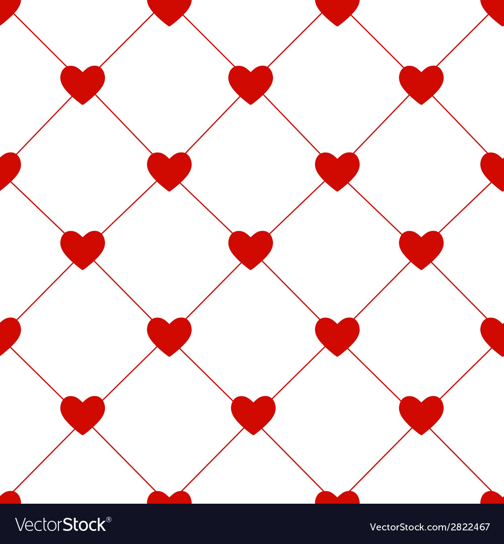 Valentines day seamless hearts pattern vector | Price: 1 Credit (USD $1)