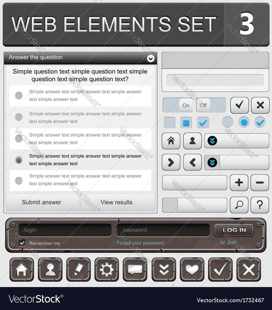 Web elements set 3 vector | Price: 1 Credit (USD $1)
