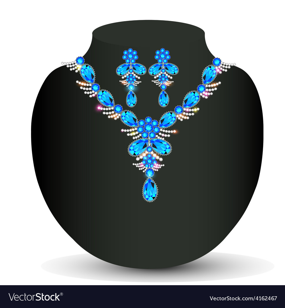 Womans necklace with precious vector | Price: 1 Credit (USD $1)