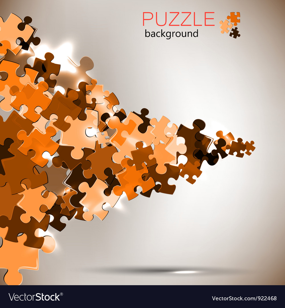 Abstract background puzzle pieces vector | Price: 1 Credit (USD $1)