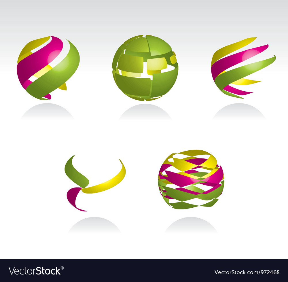 Abstract spheres vector | Price: 1 Credit (USD $1)