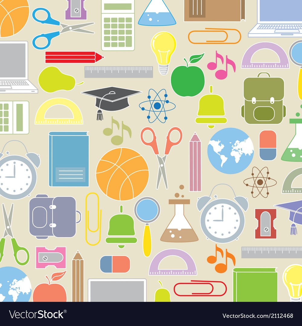 Background school icons vector | Price: 1 Credit (USD $1)