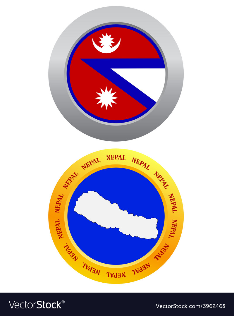Button as a symbol nepal vector   Price: 1 Credit (USD $1)