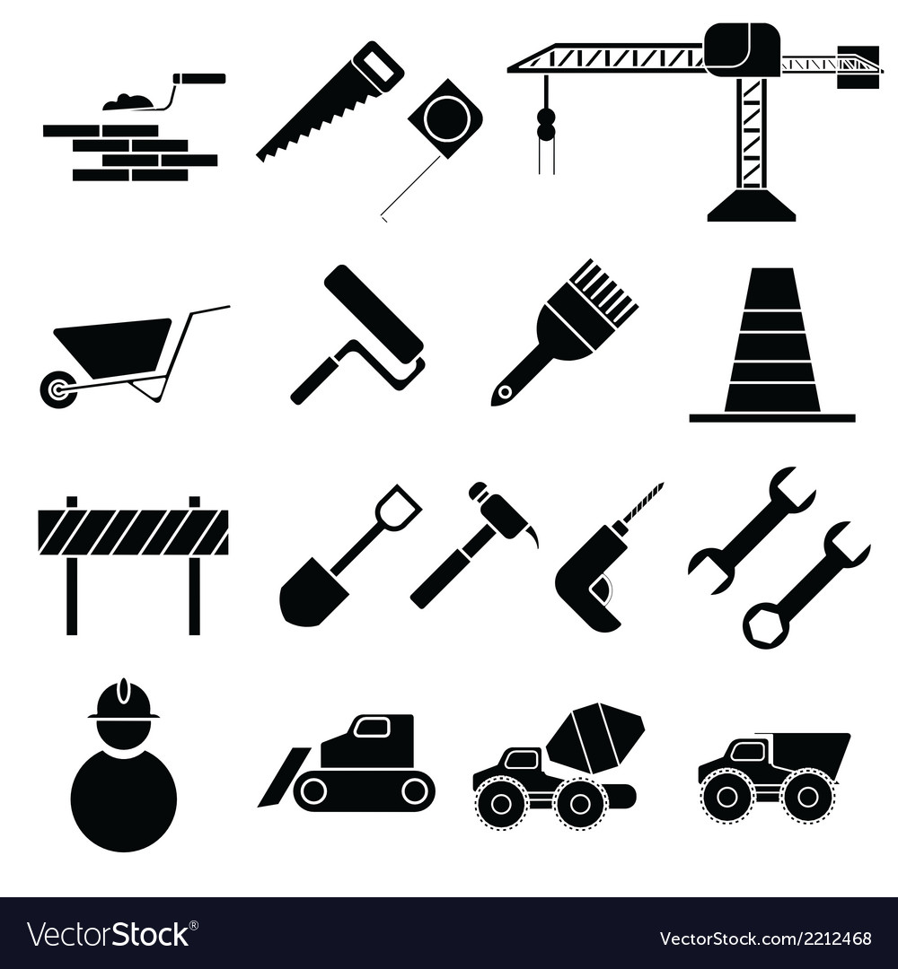 Construction icons vector | Price: 1 Credit (USD $1)