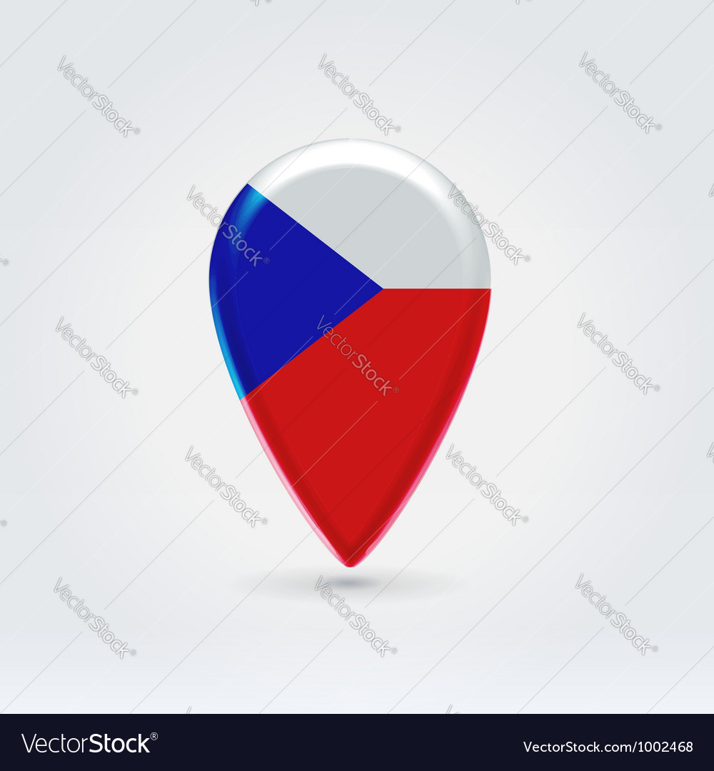 Czechian republic icon point for map vector | Price:  Credit (USD $)