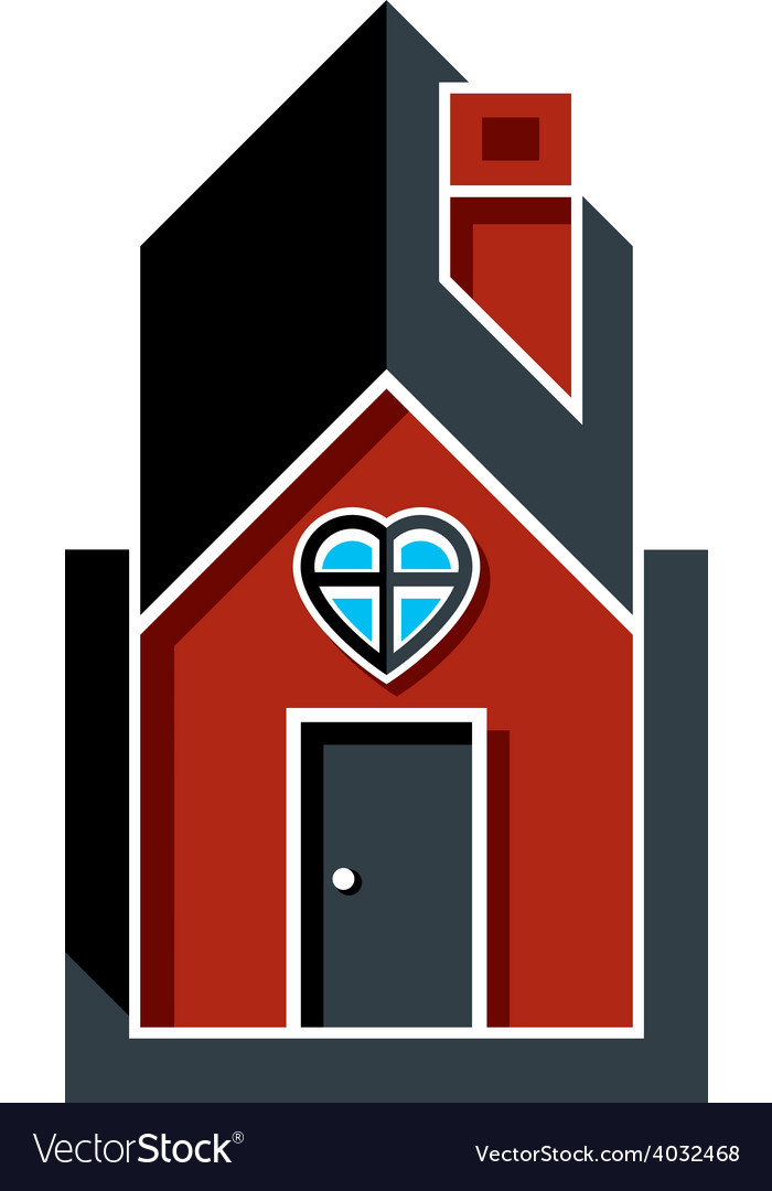Family house abstract icon harmony at home concept vector | Price: 1 Credit (USD $1)