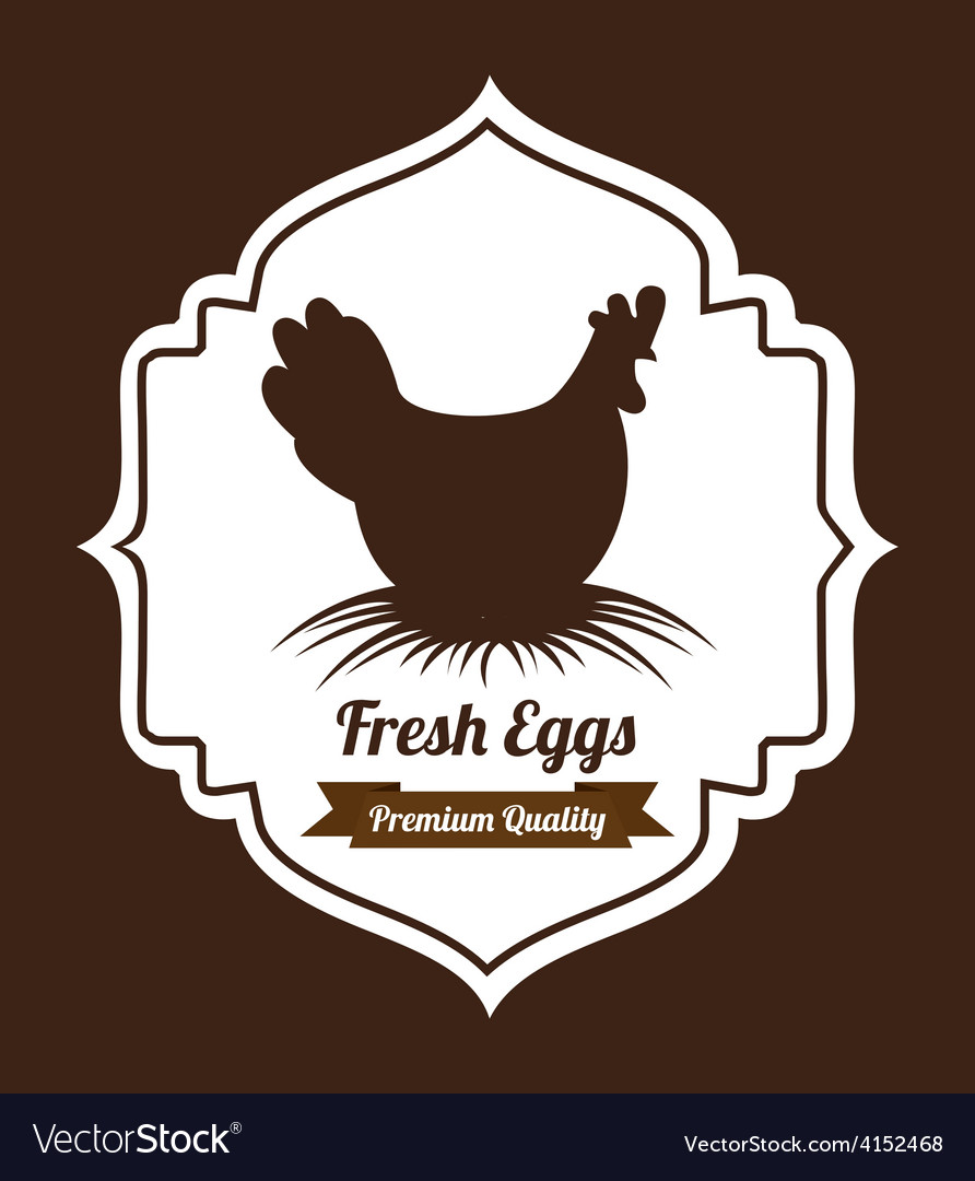 Fresh eggs vector | Price: 1 Credit (USD $1)