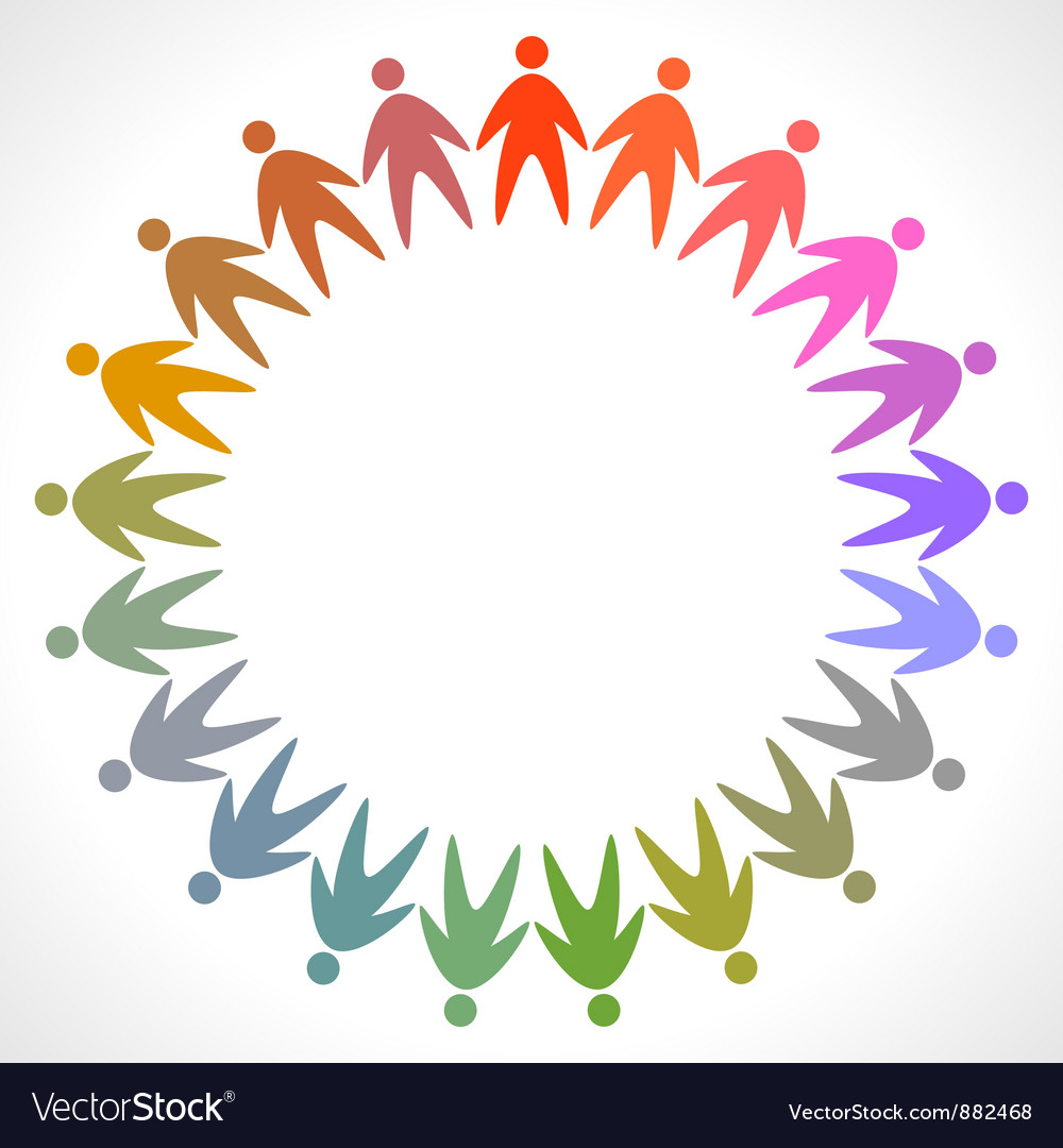 Icon of colorful people pictogram vector | Price: 1 Credit (USD $1)