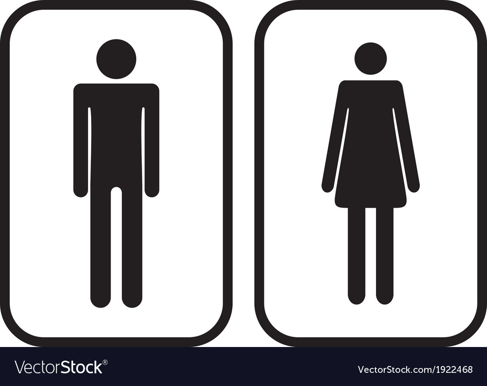 Man and woman restroom signs vector | Price: 1 Credit (USD $1)