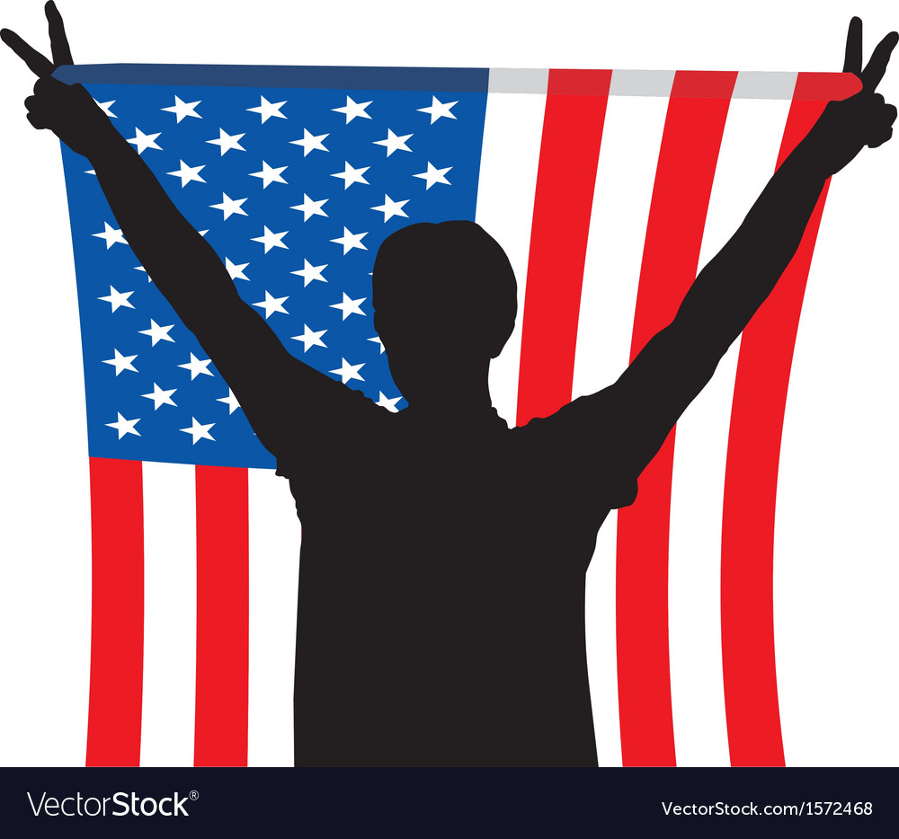 Man flag of united states america vector   Price: 1 Credit (USD $1)