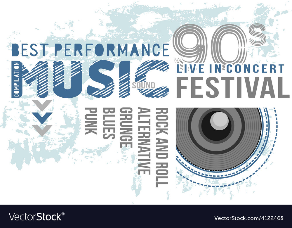 Music text design vector | Price: 1 Credit (USD $1)