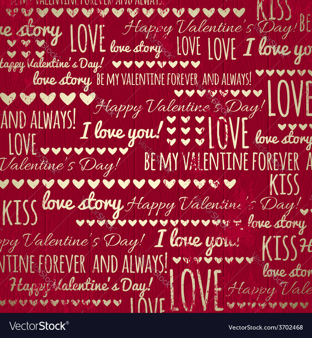 Red background with valentine heart and wishes tex vector   Price: 1 Credit (USD $1)