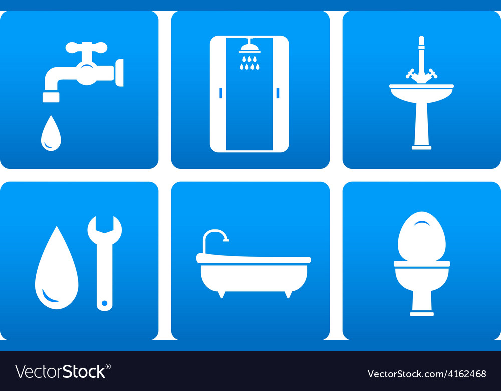 Set of plumbing icons vector | Price: 1 Credit (USD $1)