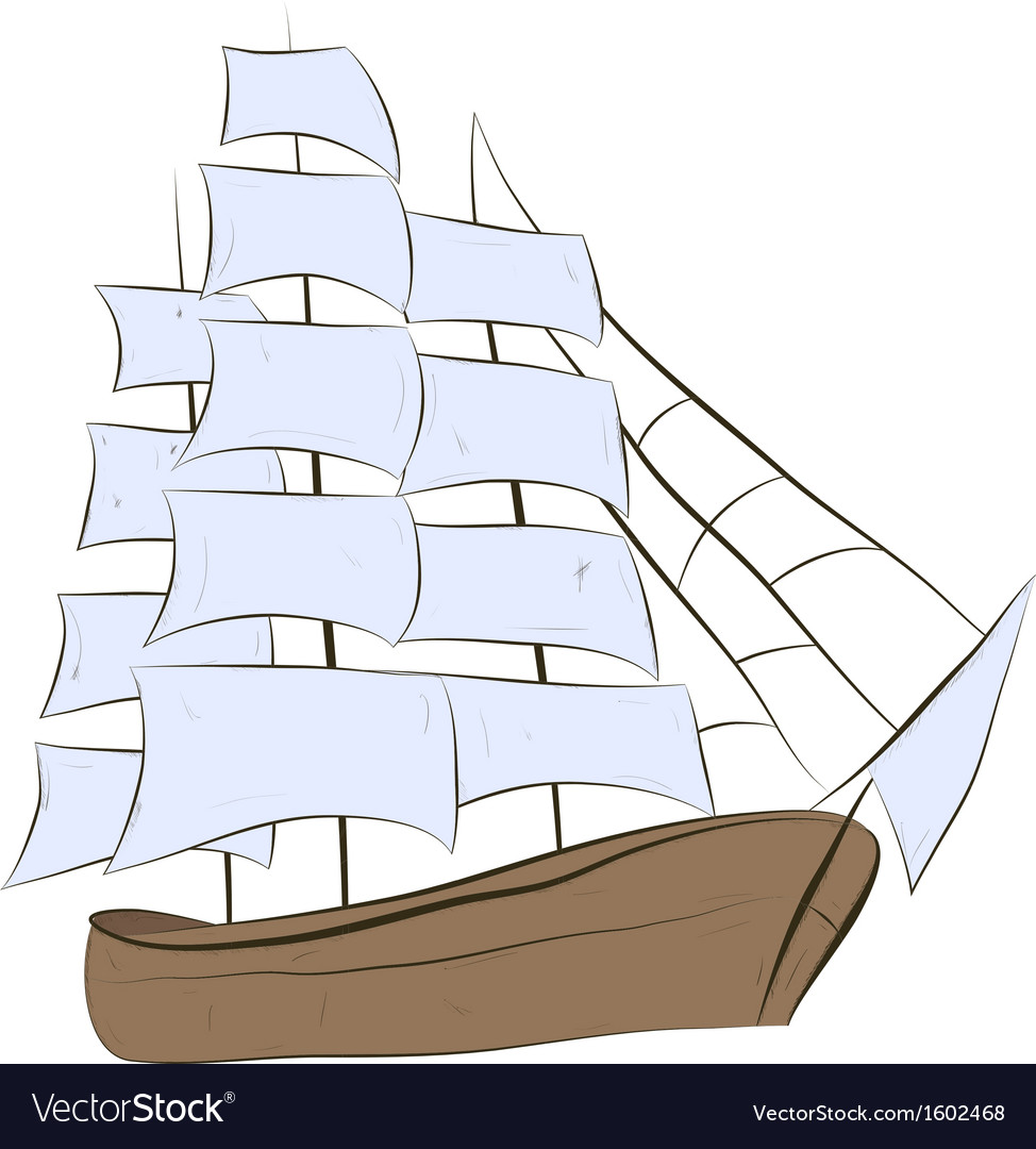 Ship sailing vector | Price: 1 Credit (USD $1)