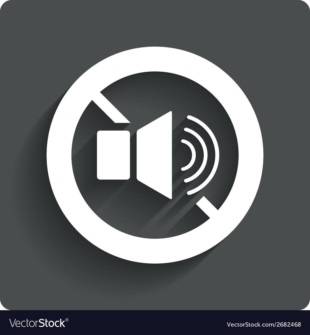 Speaker volume sign icon no sound symbol vector | Price: 1 Credit (USD $1)