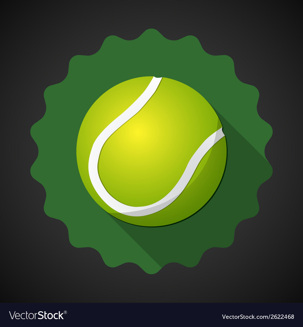 Sport ball tennis flat icon background vector | Price: 1 Credit (USD $1)