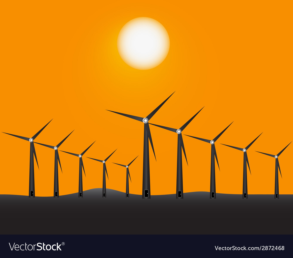 Windmills to generate energy vector | Price: 1 Credit (USD $1)