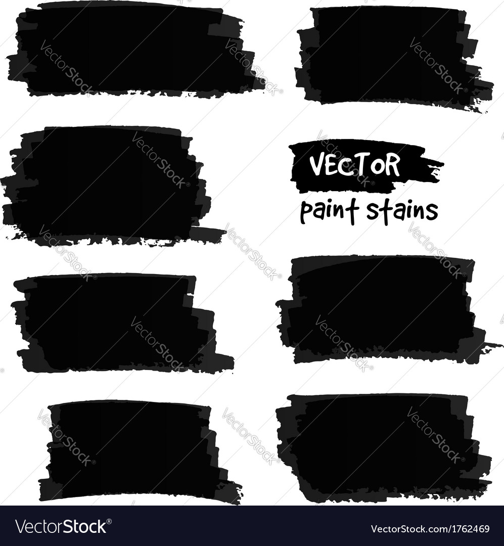 Black paint spots set vector | Price: 1 Credit (USD $1)