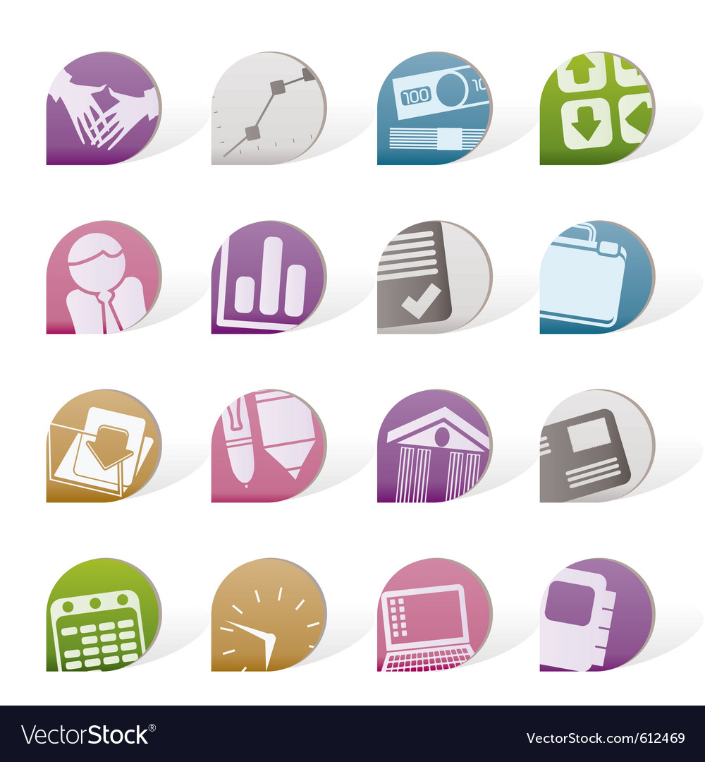 Business and office objects vector | Price: 1 Credit (USD $1)