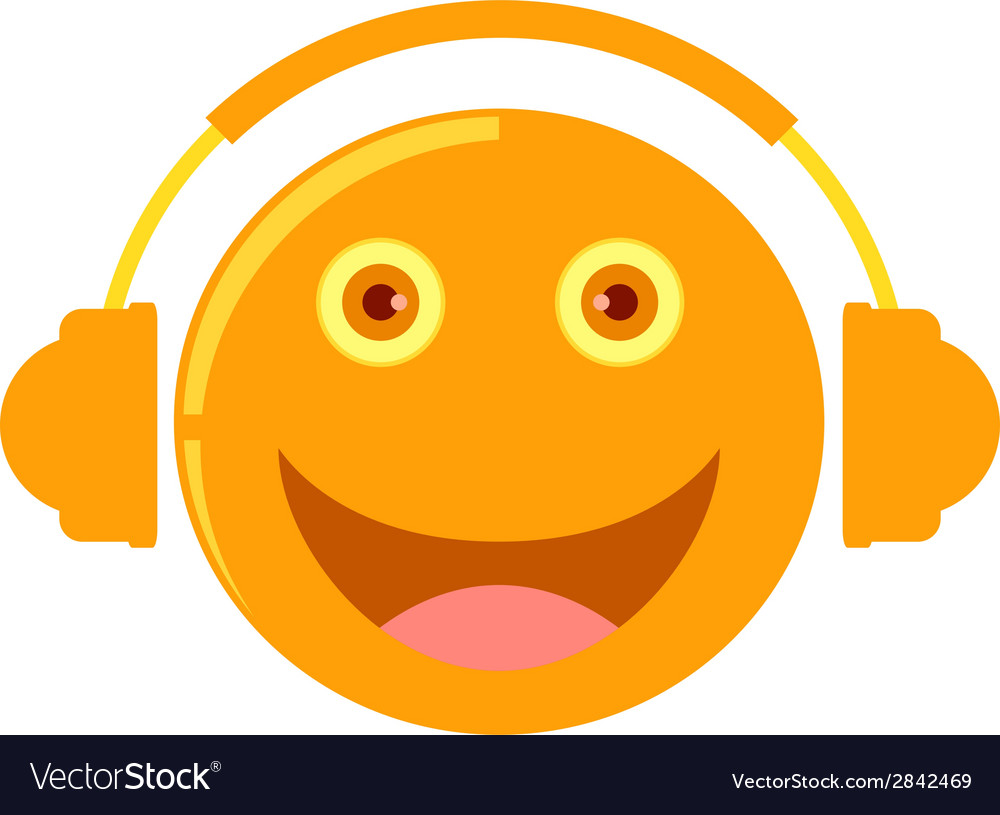 Cartoon listening to music vector | Price: 1 Credit (USD $1)