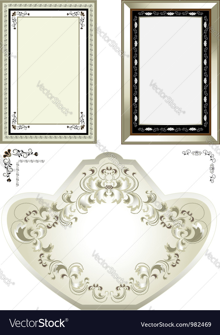 Classic vintage frame vector | Price: 1 Credit (USD $1)