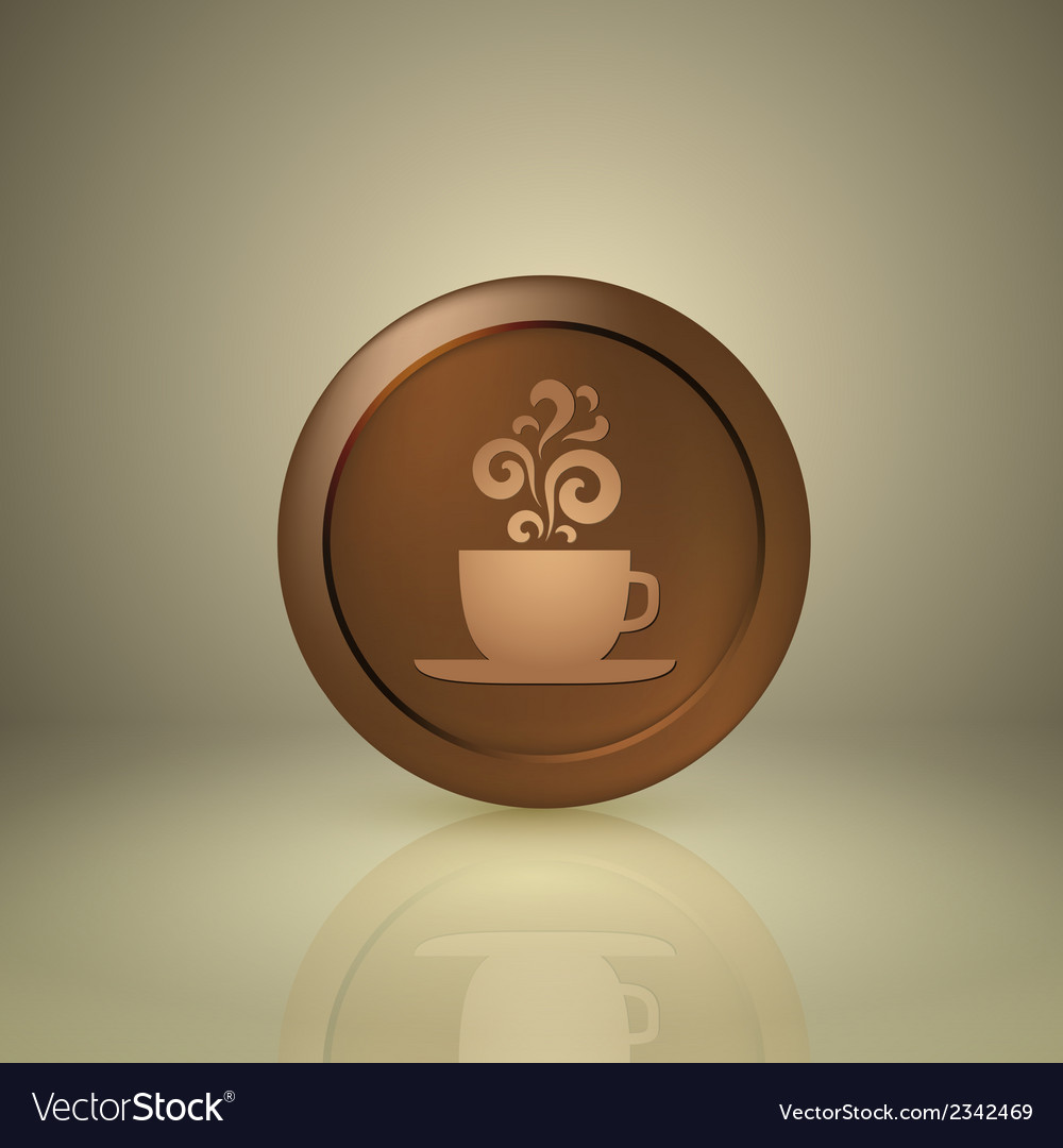 Cup of coffee icon for app or web design vector   Price: 1 Credit (USD $1)