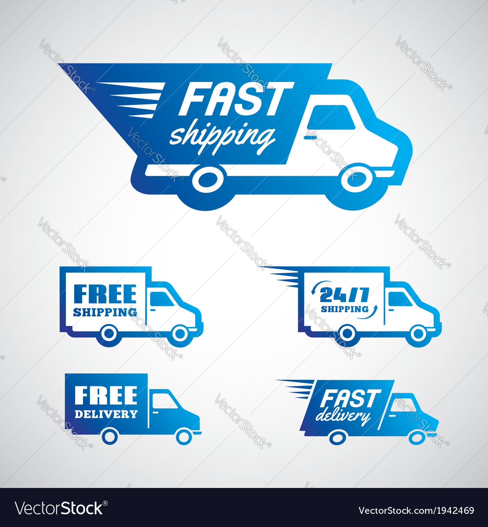 Delivery and shipping1 vector | Price: 1 Credit (USD $1)