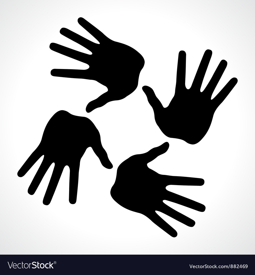 Hand prints icon vector | Price: 1 Credit (USD $1)