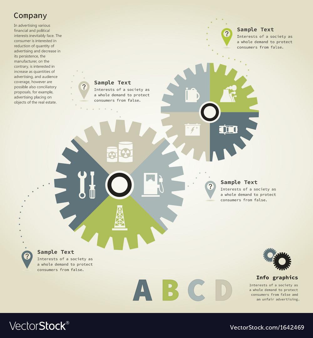 Info graphic gear wheel vector | Price: 1 Credit (USD $1)