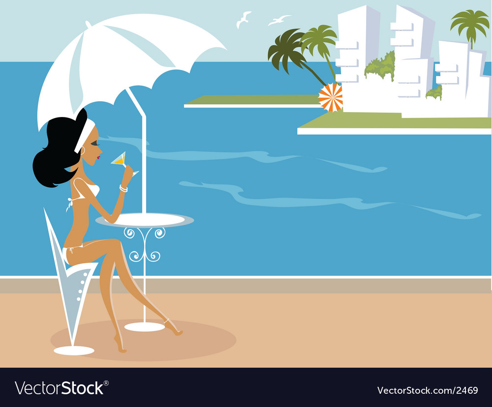 Miss boo vacation vector | Price: 5 Credit (USD $5)