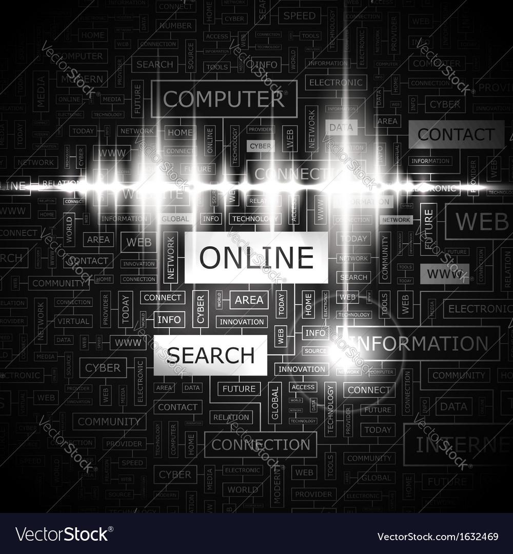 Online vector | Price: 1 Credit (USD $1)