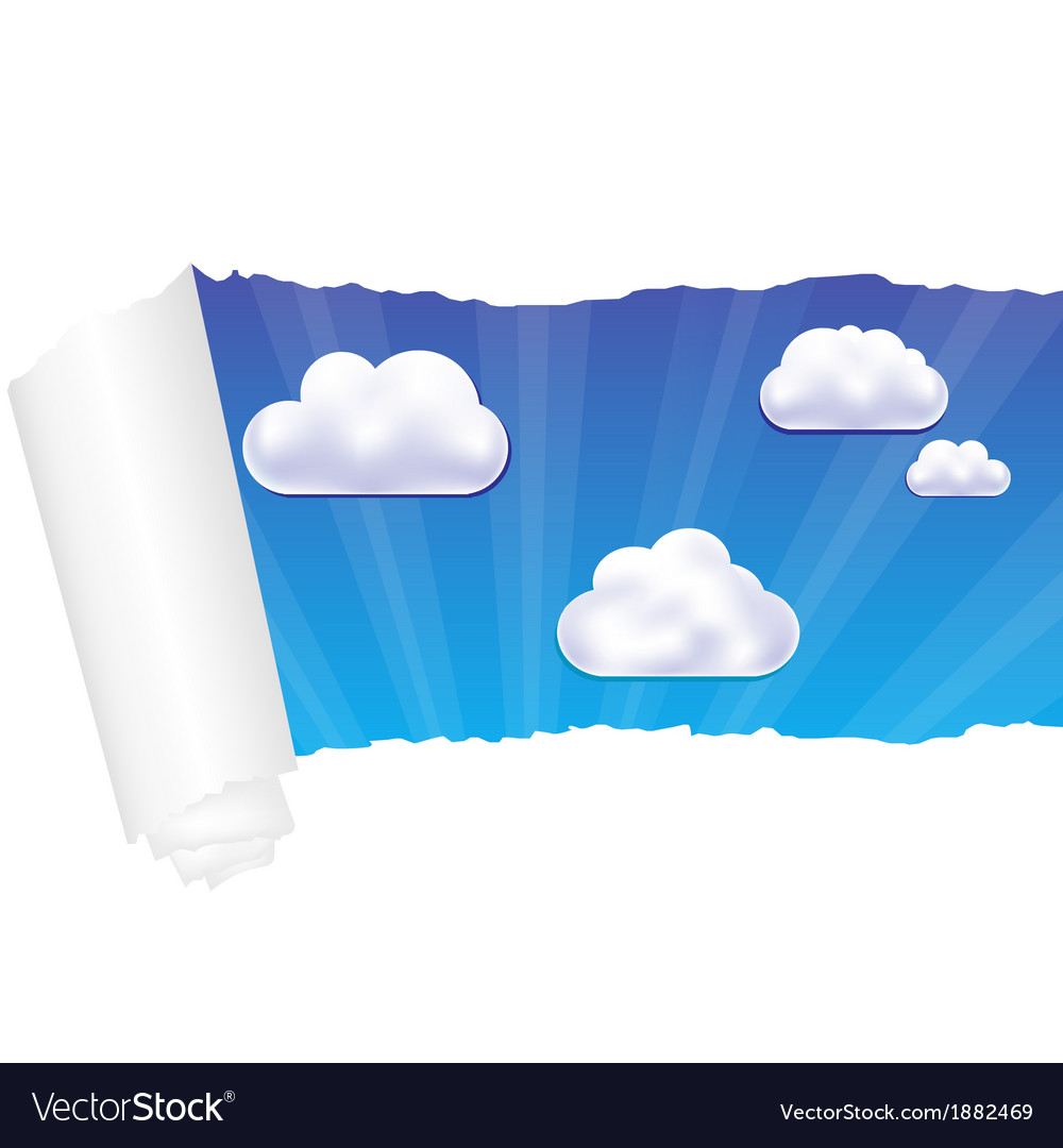 Paper and cloud vector | Price: 1 Credit (USD $1)