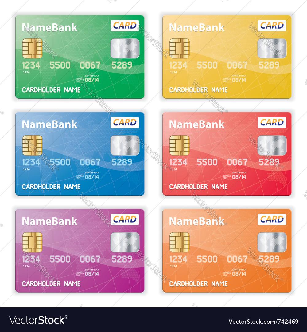 Plastic credit cards vector