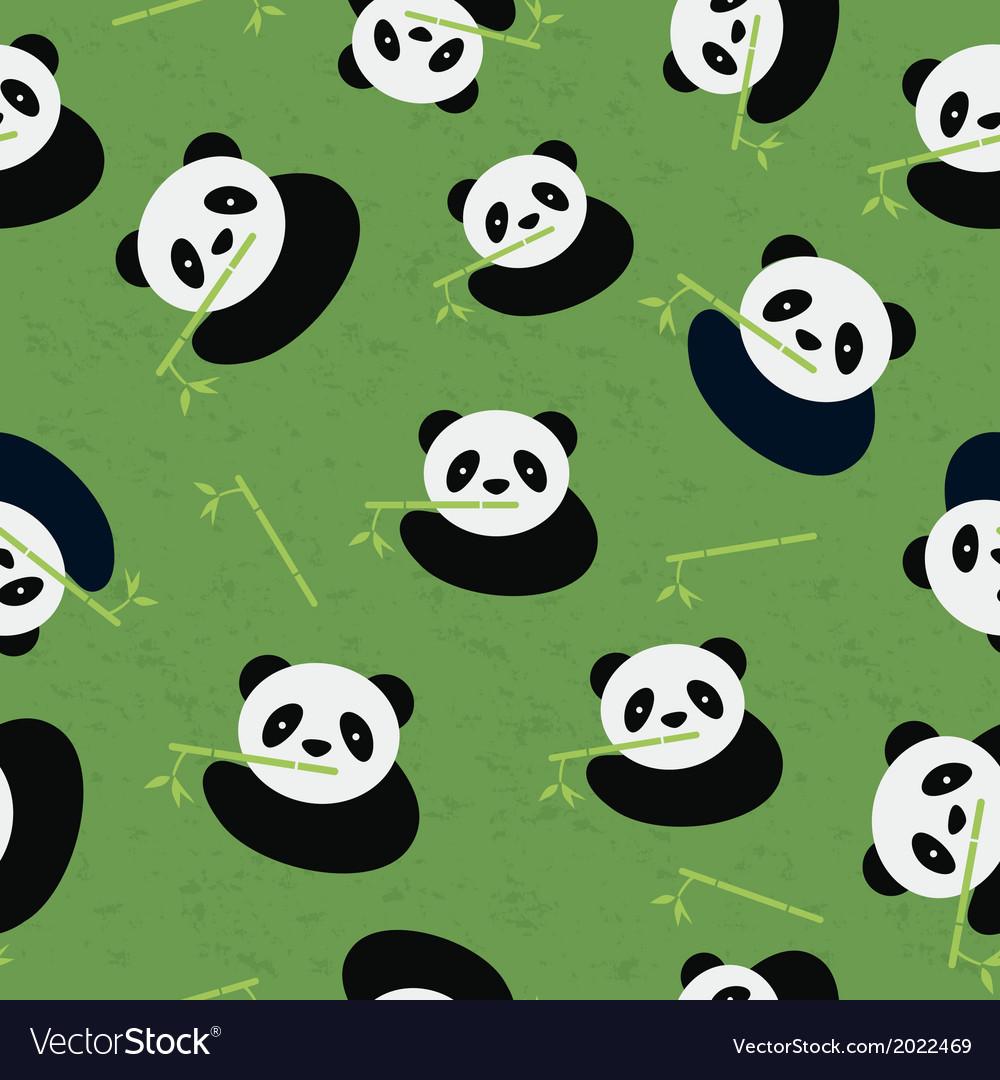 Seamless panda bear pattern vector | Price: 1 Credit (USD $1)