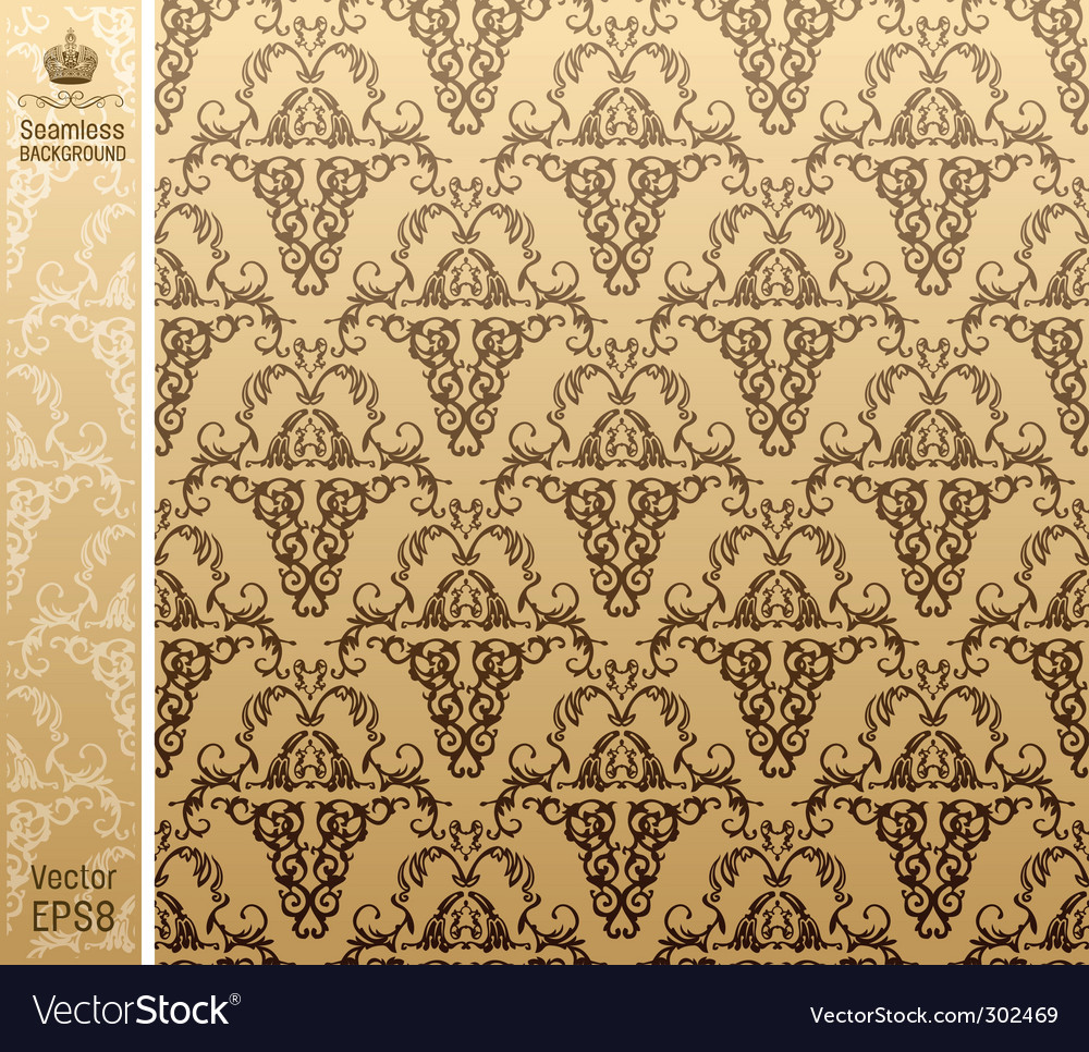 Seamless royal background floral pattern vector | Price: 1 Credit (USD $1)