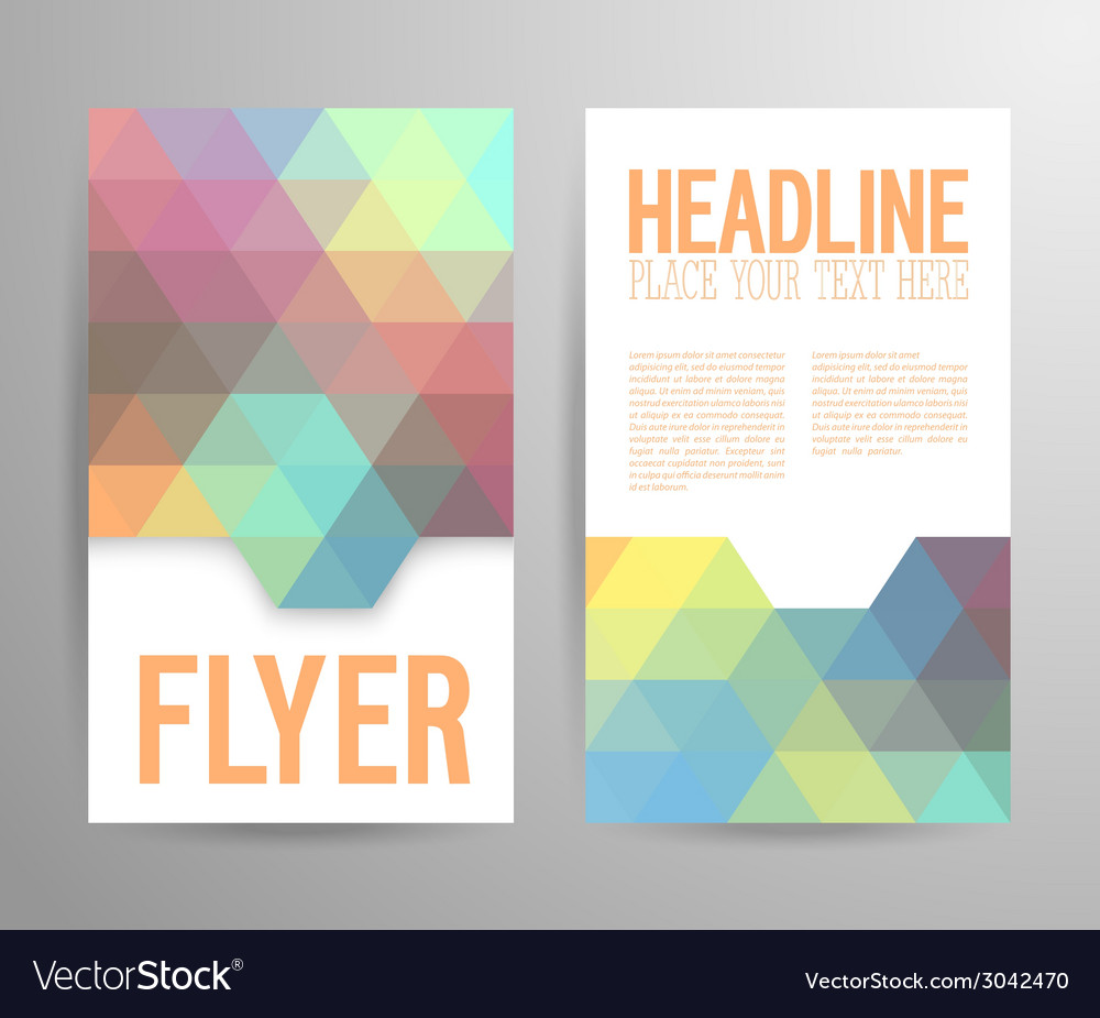 Abstract flyer template with place for text vector | Price: 1 Credit (USD $1)